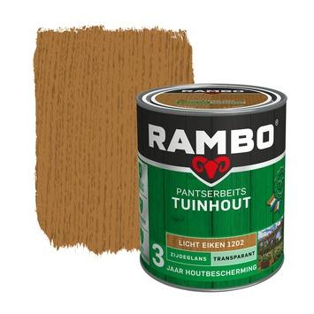Rambo pantserbeits tuinhout transparant lichteiken zijdeglans 750 ml