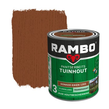 Rambo pantserbeits tuinhout transparant donker eiken zijdeglans 750 ml
