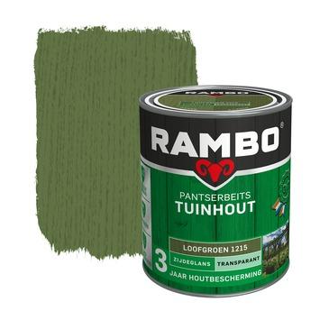 Rambo pantserbeits tuinhout transaprant loofgroen zijdeglans 750 ml