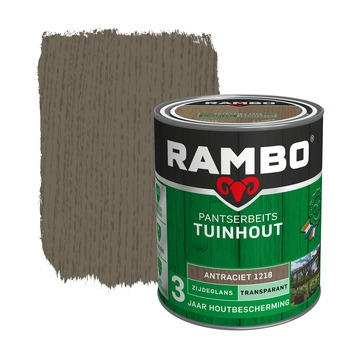 Rambo pantserbeits tuinhout transparant antraciet zijdeglans 750 ml