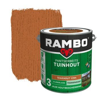 Rambo pantserbeits tuinhout transparant teakhout zijdeglans 2,5 liter