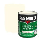 Rambo pantserbeits schuur & tuinhuis dekkend RAL 9010 zijdeglans 750 ml