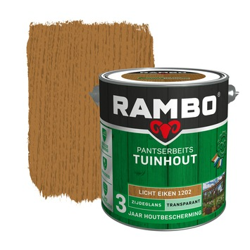 Rambo pantserbeits tuinhout transparant lichteiken zijdeglans 2,5 liter