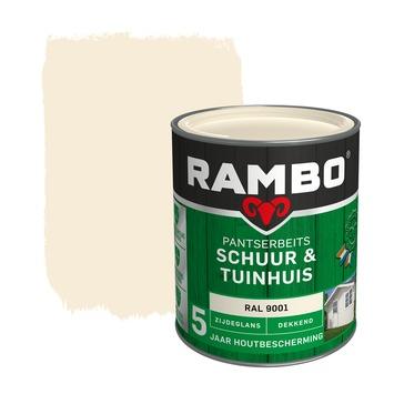 Rambo pantserbeits schuur & tuinhuis dekkend RAL 9001 zijdeglans 750 ml