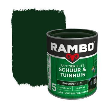 Rambo pantserbeits schuur & tuinhuis dekkend bosgroen zijdeglans 750 ml