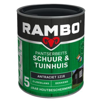 Rambo pantserbeits schuur & tuinhuis dekkend antraciet zijdeglans 750 ml