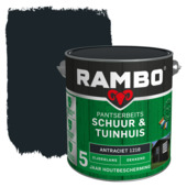 Rambo pantserbeits schuur & tuinhuis dekkend antraciet zijdeglans 2,5 liter