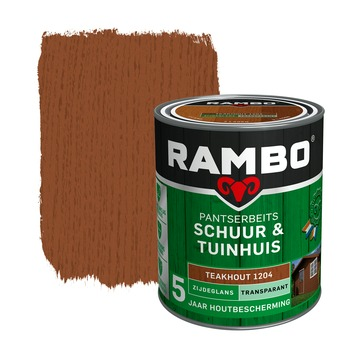 Rambo pantserbeits schuur & tuinhuis transparant teakhout zijdeglans 750 ml