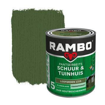 Rambo pantserbeits schuur & tuinhuis transparant loofgroen zijdeglans 750 ml