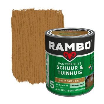 Rambo pantserbeits schuur & tuinhuis  transparant licht eiken zijdeglans 750 ml