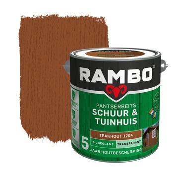 Rambo pantserbeits schuur & tuinhuis transparant teakhout zijdeglans 2,5 liter