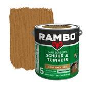 Rambo pantserbeits schuur & tuinhuis transparant licht eiken zijdeglans 2,5 liter