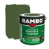 Rambo pantserbeits schuur & tuinhuis transparant loofgroen zijdeglans 2,5 liter