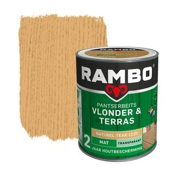 Rambo pantserbeits vlonder & terras transparant kleurloos mat 1 liter