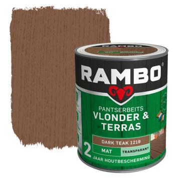 Rambo pantserbeits vlonder & terras transparant darkteak mat 1 liter