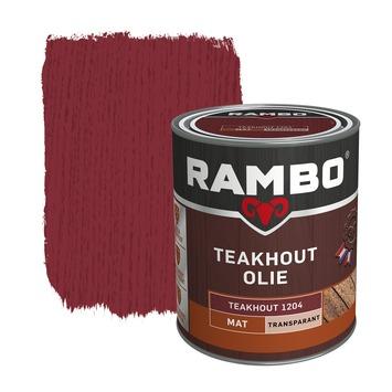 Rambo Teakhout olie transparant Teakhout mat 750 ml