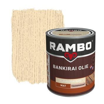 Rambo bankirai olie transparant kleurloos 750 ml