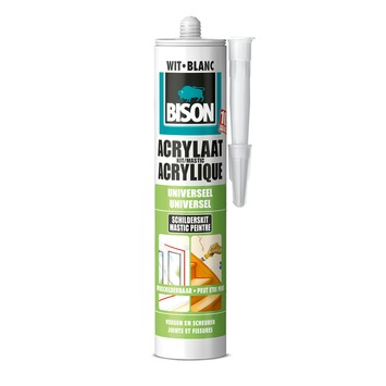 Bison acrylaatkit wit 300 ml