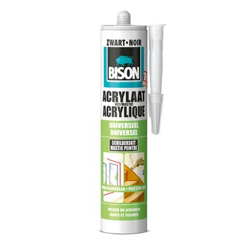 Bison acrylaatkit zwart 300 ml