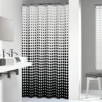 Sealskin Douchegordijn Speckles Zwart 180x200 cm