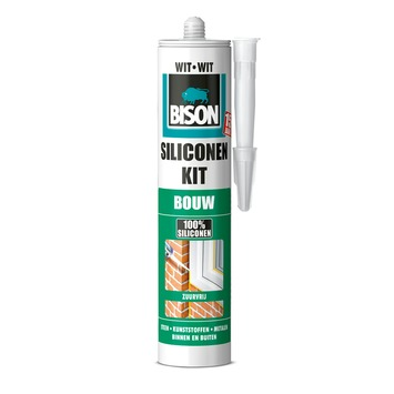 Bison siliconenkit bouw wit 300 ml