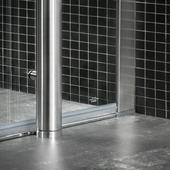 Tiger Boston vloermontageset tbv deur met zijwand RVS 120x90 cm