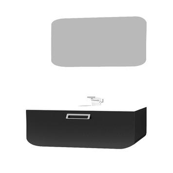 Ontario 60cm zwart met spiegelpaneel
