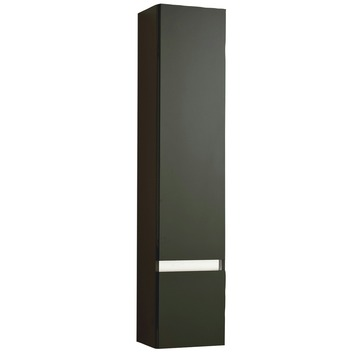 stripe kolomkast rechts hoogglans zwart 156 cm | badkamermeubelen, Badkamer