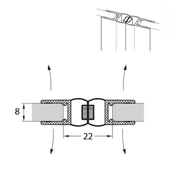 Sealskin Magneetprofiel I AM 180 Graden