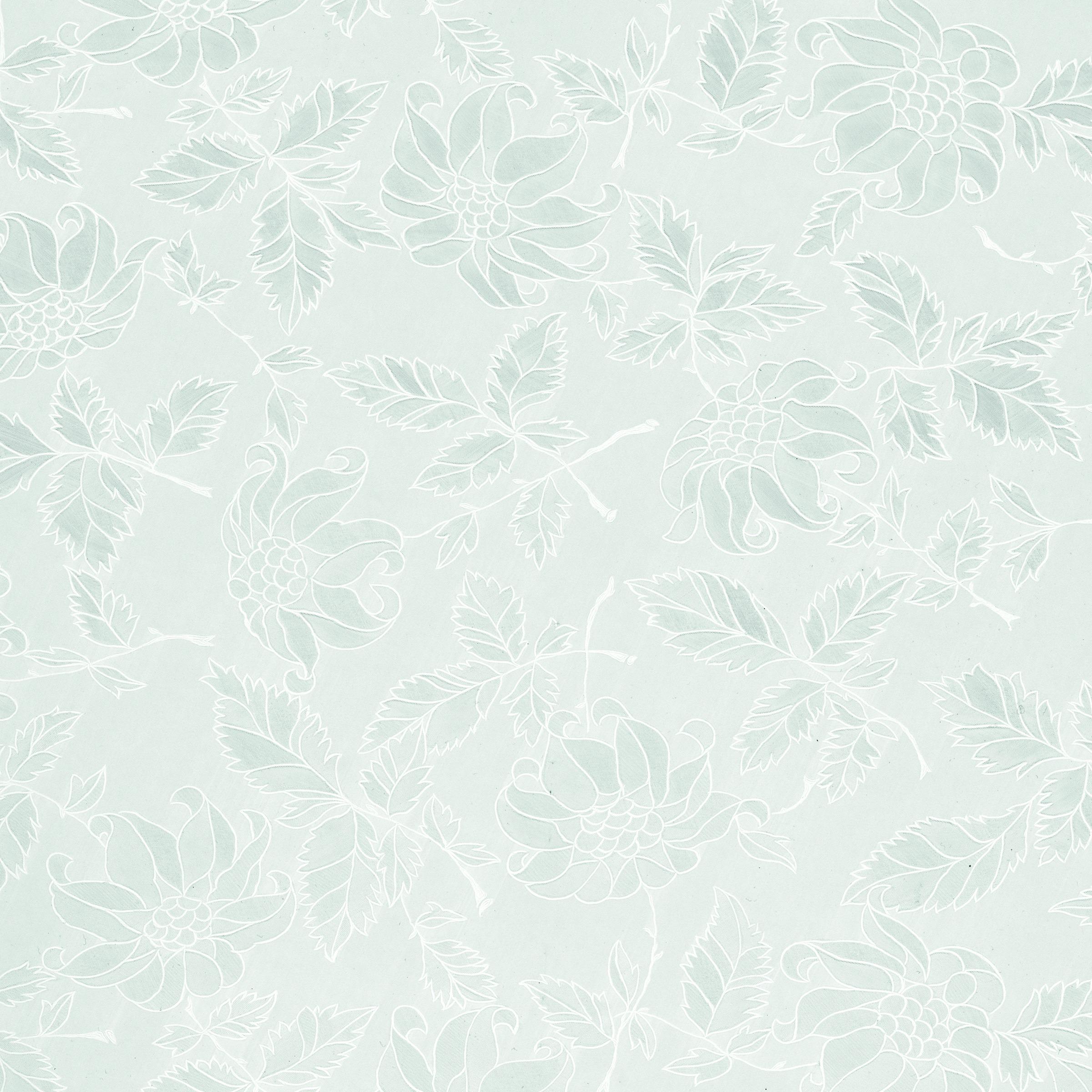 Glasfolie Damast wit
