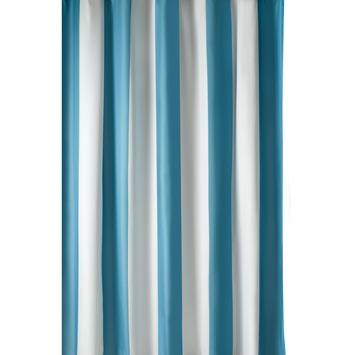 GAMMA Douchegordijn Amber Streep Textiel Aqua 180x200 cm