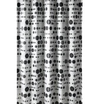 GAMMA | GAMMA douchegordijn Bal zwart/grijs/wit 200x180 cm kopen ...