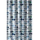 GAMMA Douchegordijn Bal Blauw/Grijs/Wit 200x180 cm