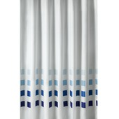 GAMMA Douchegordijn Sander Blauw/Wit 200x180 cm