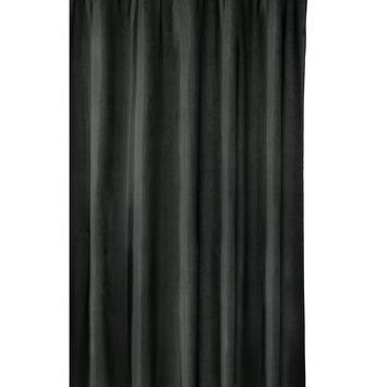 gamma douchegordijn milan zwart 200x180 cm