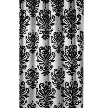 gamma gamma douchegordijn barok zwart wit 200x180 cm kopen douchegordijnen. Black Bedroom Furniture Sets. Home Design Ideas