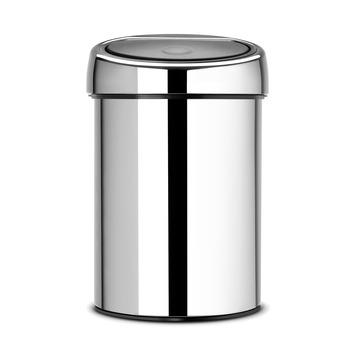 Brabantia Touch Bin afvalemmer 3 liter, chroom