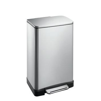 EKO E-Cube pedaalemmer rechthoekig mat RVS 30 liter