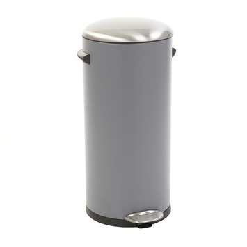 EKO Belle Deluxe pedaalemmer grijs 30 liter