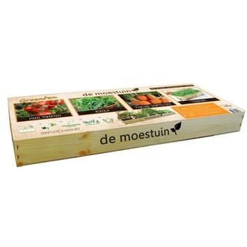 Moestuin Groenten: Mini tomaten, Rucola, Parijse worteltjes en Tuinkers