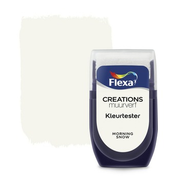 Flexa Creations muurverf Kleurtester Morning Snow mat 30ml