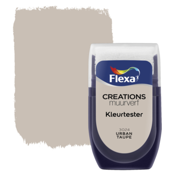 Flexa Creations muurverf Kleurtester Urban Taupe mat 30ml
