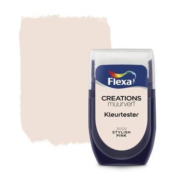 Flexa Creations muurverf Kleurtester Stylish Pink mat 30ml