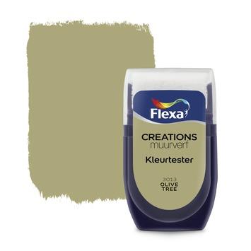 Flexa Creations muurverf Kleurtester Olive Tree mat 30ml