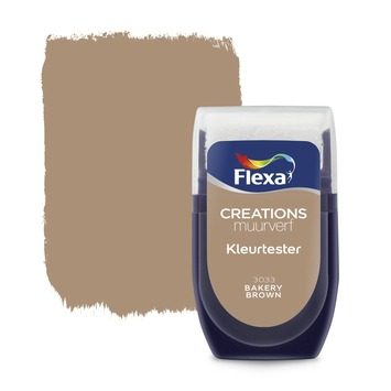Flexa Creations muurverf Kleurtester Bakery Brown mat 30ml