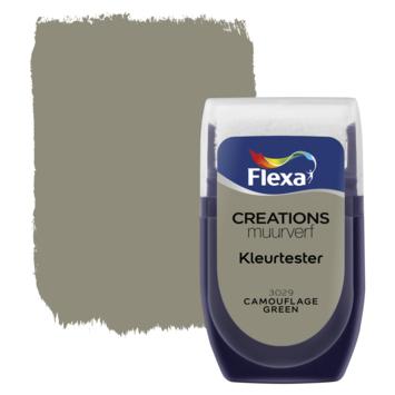 Flexa Creations muurverf Kleurtester Camouflage Green 30ml
