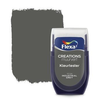 Flexa Industrial Grey.Flexa Creations Muurverf Kleurtester Industrial Grey 30ml