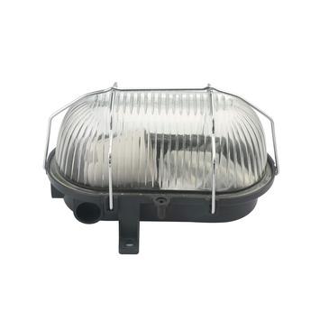 Handson wandlamp bulleye glas en metaalfkorf ovaal 60W