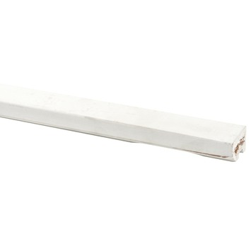 Glaslat hardhout wit gegrond 24x28 mm 270 cm