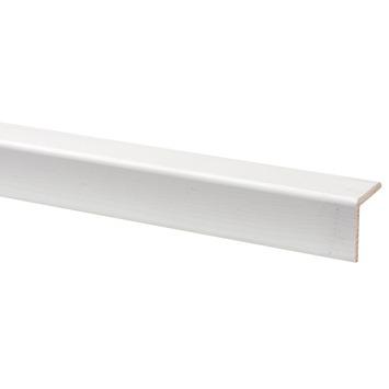 Hoeklat grenen wit gegrond 27x27 mm 270 cm